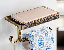 Antique Square Tissue Bar Hanger Wall Mounted Bathroom Toilet Roll Paper Holder