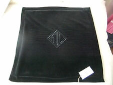 RALPH LAUREN Home LUXURY LARGE VELVET CUSHION COVER MONOGRAM RL BLACK 50x50cm BN