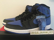 2013 nike Air Jordan 1 High OG Noir Bleu Royal nous 7,5 6,5 40,5 élevés retro hi AJ