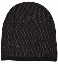 New Gucci 352350 Men's Black Beige Wool Cashmere Beanie Ski Winter Hat LARGE