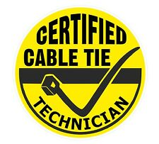 Funny Cable Tie Technician vinyl car toolbox sticker decal Electrician Mechanic