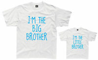 I'M THE BIG/LITTLE BROTHER Boys T-Shirt 1-12 Years White Funny Joke Gift Present