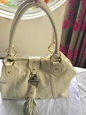 GORGEOUS PATRICK COX GENUINE IVORY LEATHER HANDBAG .EXCELLENT CONDITION