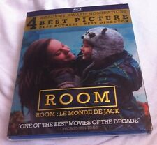 Room Blu-ray 2015/2016 W/ SLIPCOVER Brie Larson Jacob Tremblay Oscar Winner