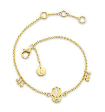 Daisy London Jewellery NEW! 18ct Gold Plated Hand of Fatima Good Karma Bracelet