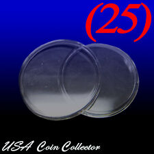(25) 1 Oz. Silver & Copper Round Size Direct Fit Air-Tite Coin Capsules [H39]