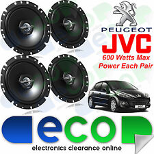 "Peugeot 207 2006 JVC 17cm 6.5"" 1200 Watts 2 Way Front & Rear 5 Door Car Speakers"
