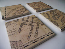 Harry Potter Marauders Map Tile Coasters - New