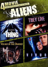 4 Movie Midnight Marathon Pack: Aliens (DVD, 2014)The Thing/They Live/Virus