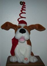 2008 Kids of America Animated Plush Christmas Dog/Santa Claus is Coming to Town