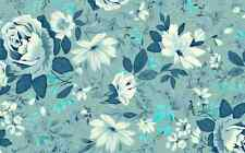 Vintage Blue Flower Print Cake Topper Edible Wafer Paper FULL A4 SHEET