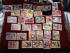 1966 TOPPS BATMAN - SERIES A - RED BAT - 33 DIFFERENT PUZZLE CARDS