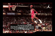 Michael Jordan Motivational Poster Silk Fabric Canvas 12x18 Inch Printing 31