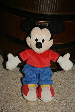"2001 Fisher Price Plush Disney Mickey Mouse Blue Pants 12""     A4"