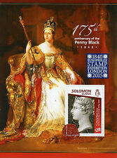 Solomon Islands 2015 MNH Penny Black 175 Europhilex 1v S/S Queen Victoria Stamps