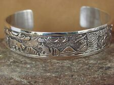 Native American Jewelry Sterling Silver Storyteller Bracelet by Elaine Becenti