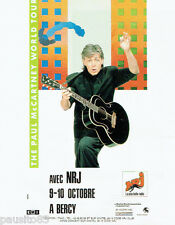 PUBLICITE ADVERTISING 115  1989  Paul Mc Cartney en concert à Bercy World Tour