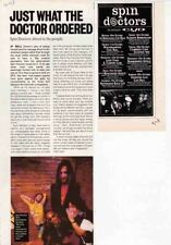 SPIN DOCTORS : CUTTINGS COLLECTION -advert interview-