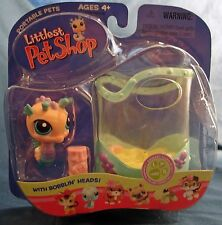 L1 Littlest Pet Shop 142 bobblin' head pink seahorse with case new in pack