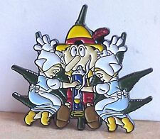 GOOD BOY PINOCCHIO WITH FRIENDS SMOKING BONG  GRATEFUL DEAD RELIX PIN