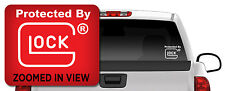 Protected by Glock Vinyl Decal Sticker Truck Window Car/ipad laptop