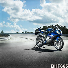 Motorcycle 10'x10' Computer-painted Scenic Photo Background Backdrop BHF665