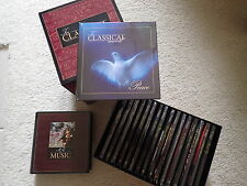 "NEW ""In Classical Mood"" 17 Music CDs & Books + Reference Guide + 2 Storage Cases"