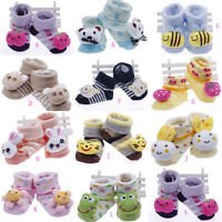 Newborn Infant Toddler Baby Booties Socks Boots Cotton Toes Cartoon Animal