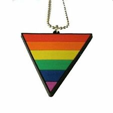 Gay Pride Pendant Rubber Triangle