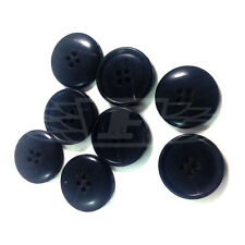 PACK OF 10 15mm BLACK PLASTIC WOOD EFFECT PATTERN BUTTON BUTTONS BTN (27164-24)
