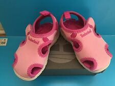 NWB TIMBERLAND LITTLE HARBOR PINK GIRL SANDALS CLOSED TOE TODDLER Size 7