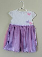 NWT Youngland White Purple Butterfly Dress Toddler Girls 4T