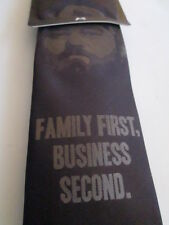 """Men's Duck Dynasty """"Family First, Business Second"""" Brown Neck Tie  Willie New"""