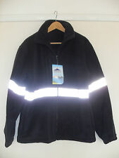New Portwest Peak Performance Wear Men Fleece Jacket Size XL Black Thick Warm