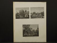 New York, Historical Engravings 1867 Map Bedford Village Washington Irving O5#39