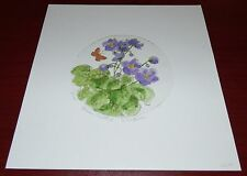 AFRICAN VIOLETS II SIGNED LIMITED EDITION ETCHING FLOWERS 64/195