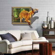 Wandtattoo Wandbild Wandaufkleber Kinderzimmer Wandsticker Tiger 3D NEU