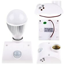 E27 IR Infrared Motion Sensor Automatic Light Lamp Bulb Holder Sensing Switch