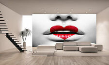 BEAUTY SEXY MODERN LIPS  Wall Mural Photo Wallpaper giant poster FREE ADHESIVE