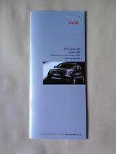 AUDI Q7 PRICE LIST BROCHURE NOVEMBER 2005 (BUT 2007 MODEL YEAR)