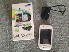 cellulare smartphone SAMSUNG GALAXY NEXT TURBO bianco + Scatola + Caricabatterie