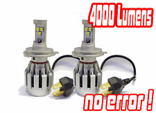 H4 Cree LED Headlight Bulbs Headlamp Conversion Kit Hid Fiat Grande Punto 06+