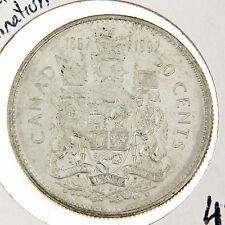 50 Cents Canada, 1867-1992 Partial Lamination error