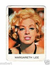 FIGURINA  CARTONATA   EDIZIONI  PERFETTI  1965  MOVIE CINEMA  MARGARETH  LEE