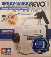 Tamiya Spray Work HG Air Compressor - Revo II (Blue) w/Airbrush III 89972