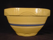 RARE BLUE & WHITE BAND SMALL 6 INCH SIGNED BOWL YELLOW WARE MINT