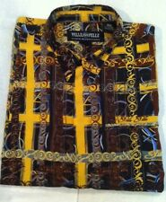 PELLE PELLE MARC BUCHANAN GOLD BLK SIX  BUTTON DOWN XXL SHIRT