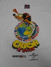 Vintage 90s Playstation Promo T-Shirt Crash Bandicoot 2 Universal Studios Large