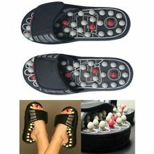 New L size Spring Action Acupressure Massage Slippers Leg Foot Massager Unisex