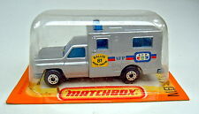 "Matchbox Superfast Nr.41C Ambulance silber ""Paris-Dakar '81"" Sondermodell"